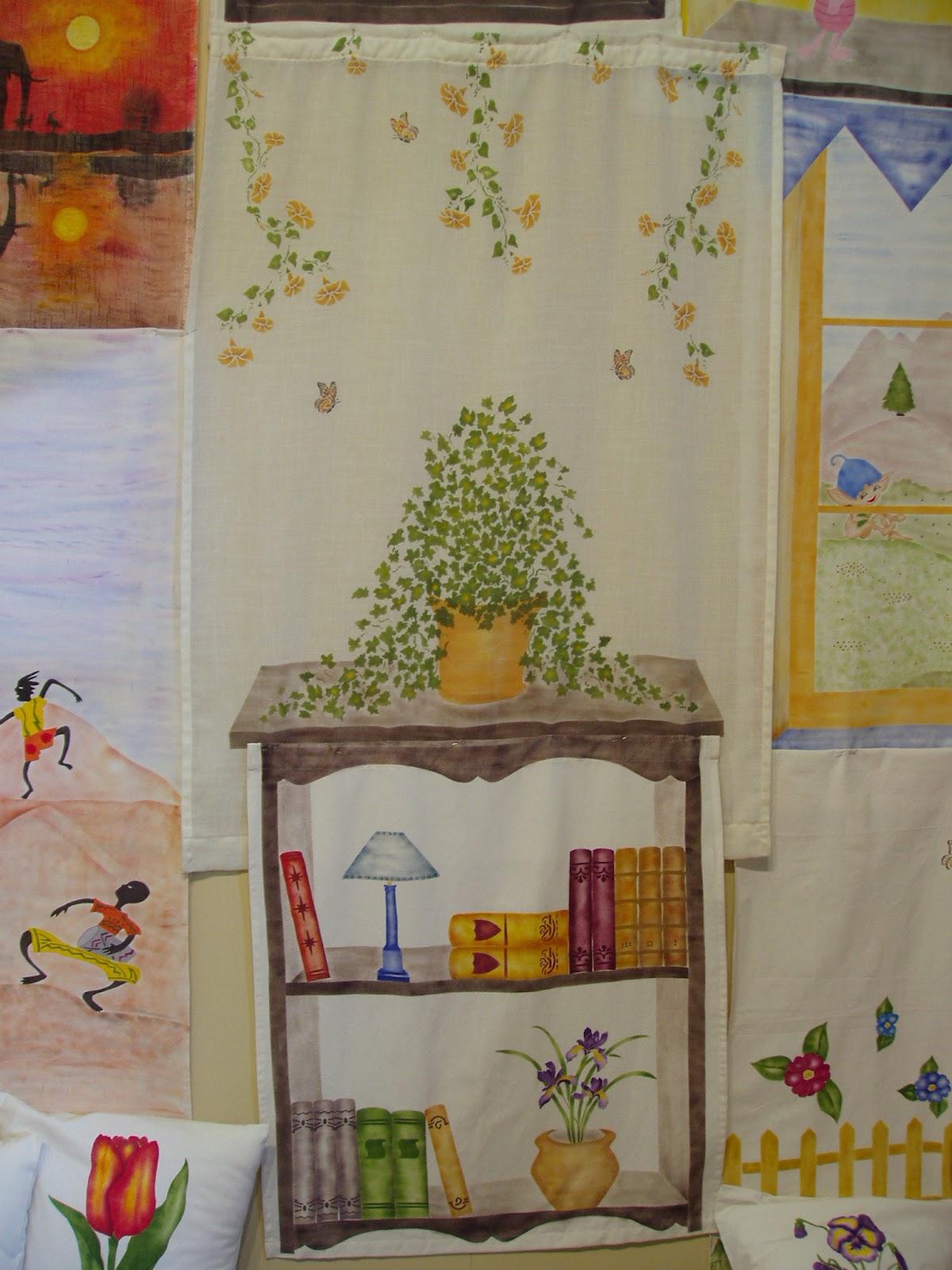 Pepa casado dise o de cortinas cursos pintura en tela for Disenos de cortinas de tela
