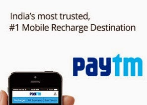 Paytm: Mobile, DTH Recharge and Bill Payment 25% Cashback, Rs. 30 Cashback on Rs. 100