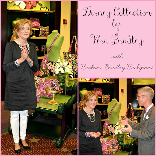 Barbara Bradley Baekggard introducing The Disney Collection by Vera Bradley