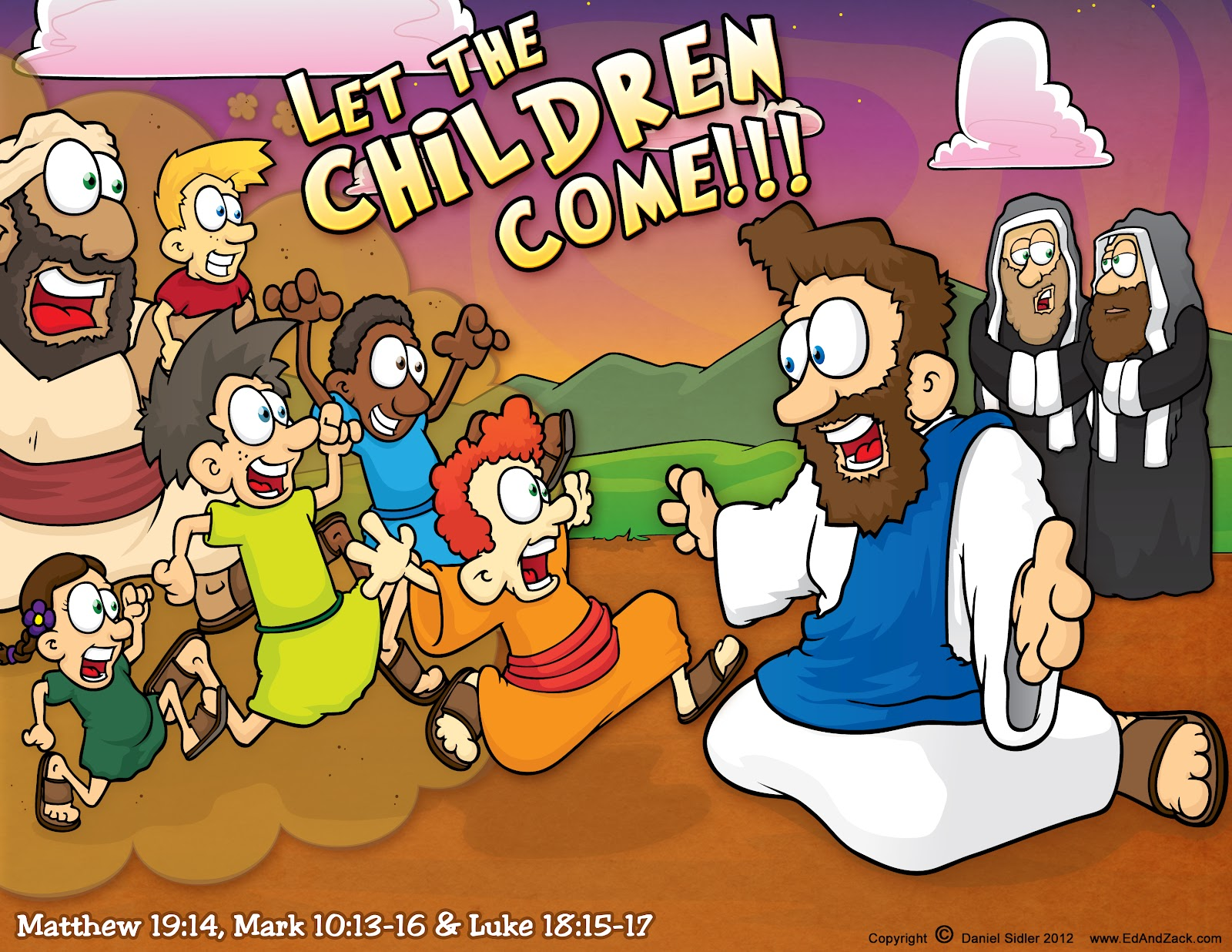 Jesus Cartoon For Kids To Draw Let the children come