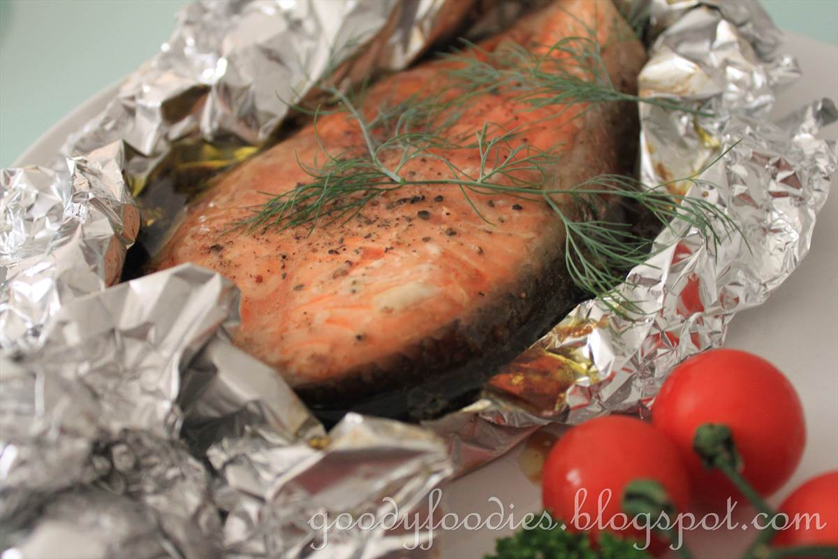 Goodyfoodies recipe easy oven baked salmon trout asian western goodyfoodies recipe easy oven baked salmon trout asian western style forumfinder Images