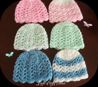 Crochet Hat Pattern For Premature Baby : .Lindas Crafty Corner: Lisha Baby Hat