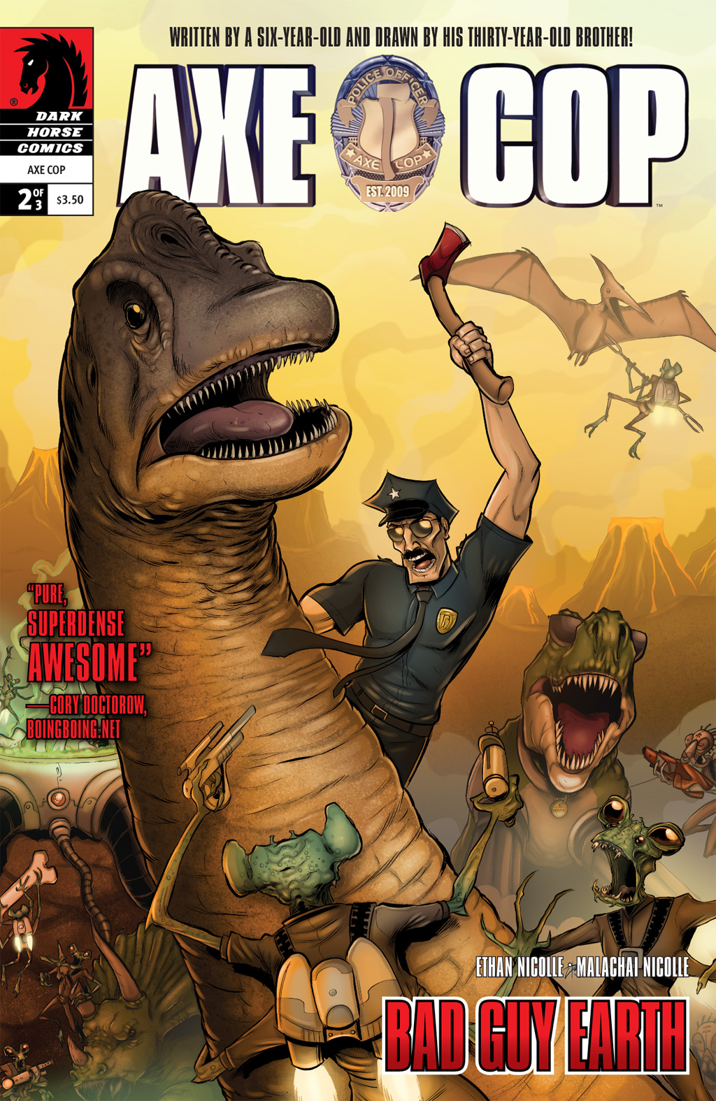 Read online Axe Cop: Bad Guy Earth comic -  Issue #2 - 1