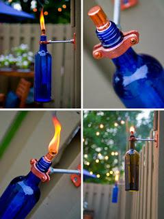 Como hacer una antorcha reciclando botellas de vino