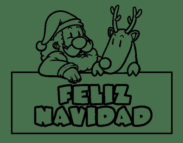 dibujos de navidad 2015 para colorear