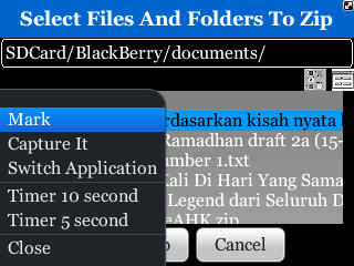 File Manager Zip Utility untuk Blackberry Curve 9300 3G