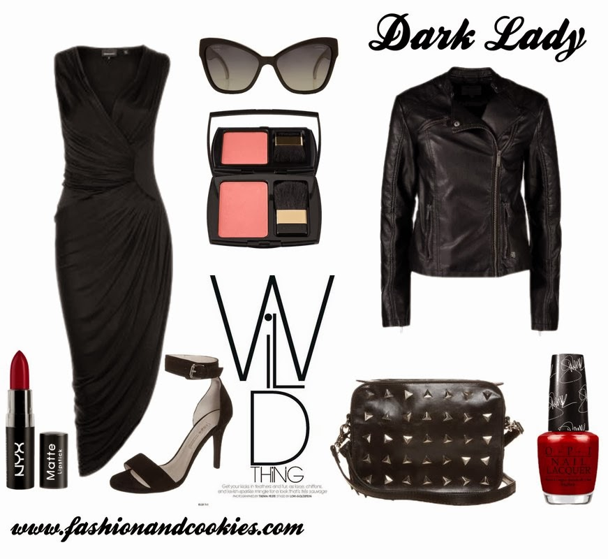 dark lady mood fashion set, Fashion and Cookies, Zalando selection, fashion blogger