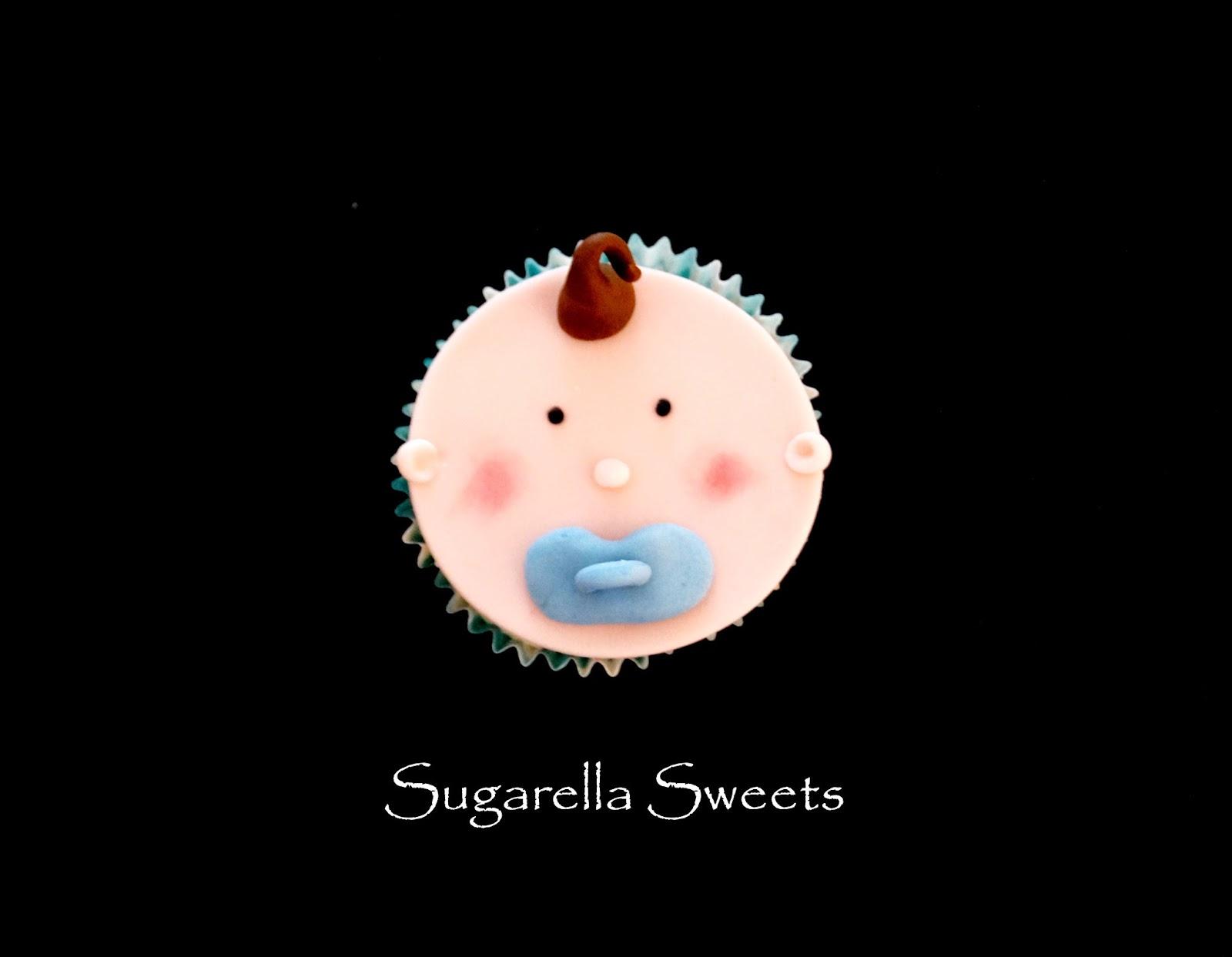 "baby cupcake face""""baby shower cupcake""""cupcake topper"""