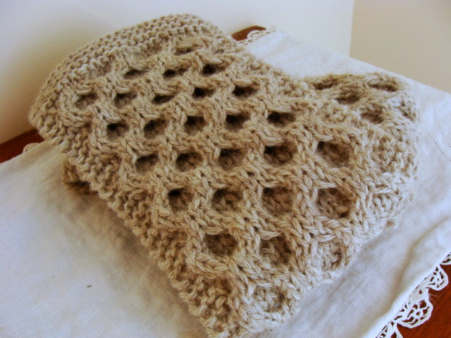 Felted Treasures Sunday Morning Knit Wit Honeycomb Scarf