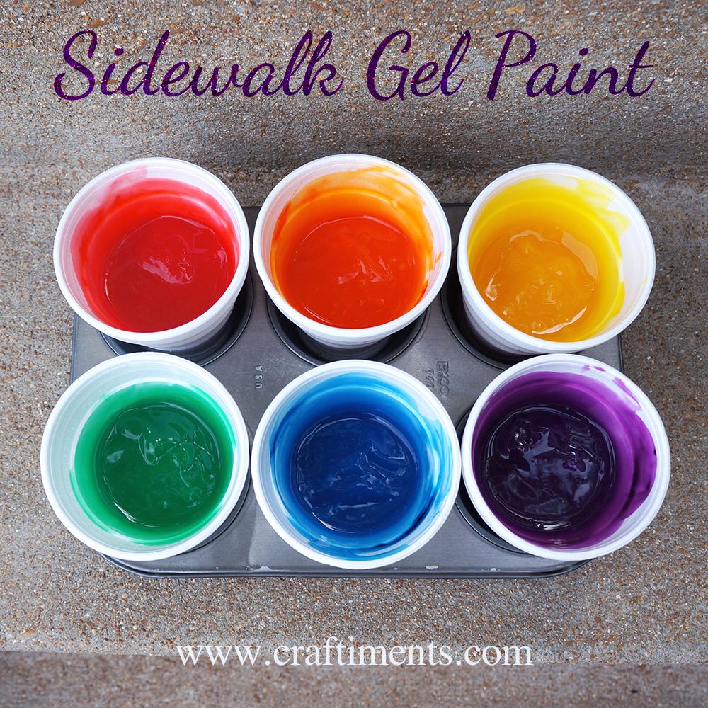 Sidewalk Gel Paint Recipe