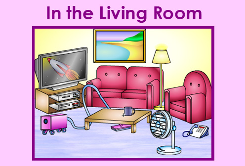 Learn english at eij the parts of the house for 6 in the living room