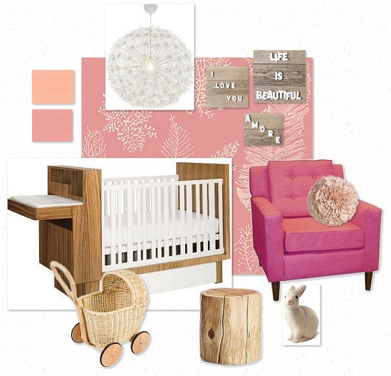 New on the blog!: A Baby Girl\'s Nursery {The Handemade Hullabaloo ...