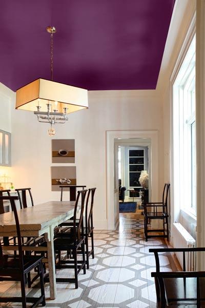 Painted Ceiling Purple