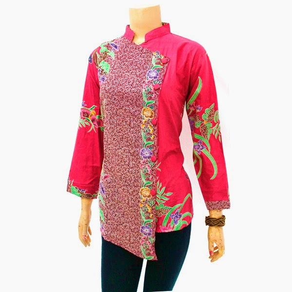 Blus Batik Pink
