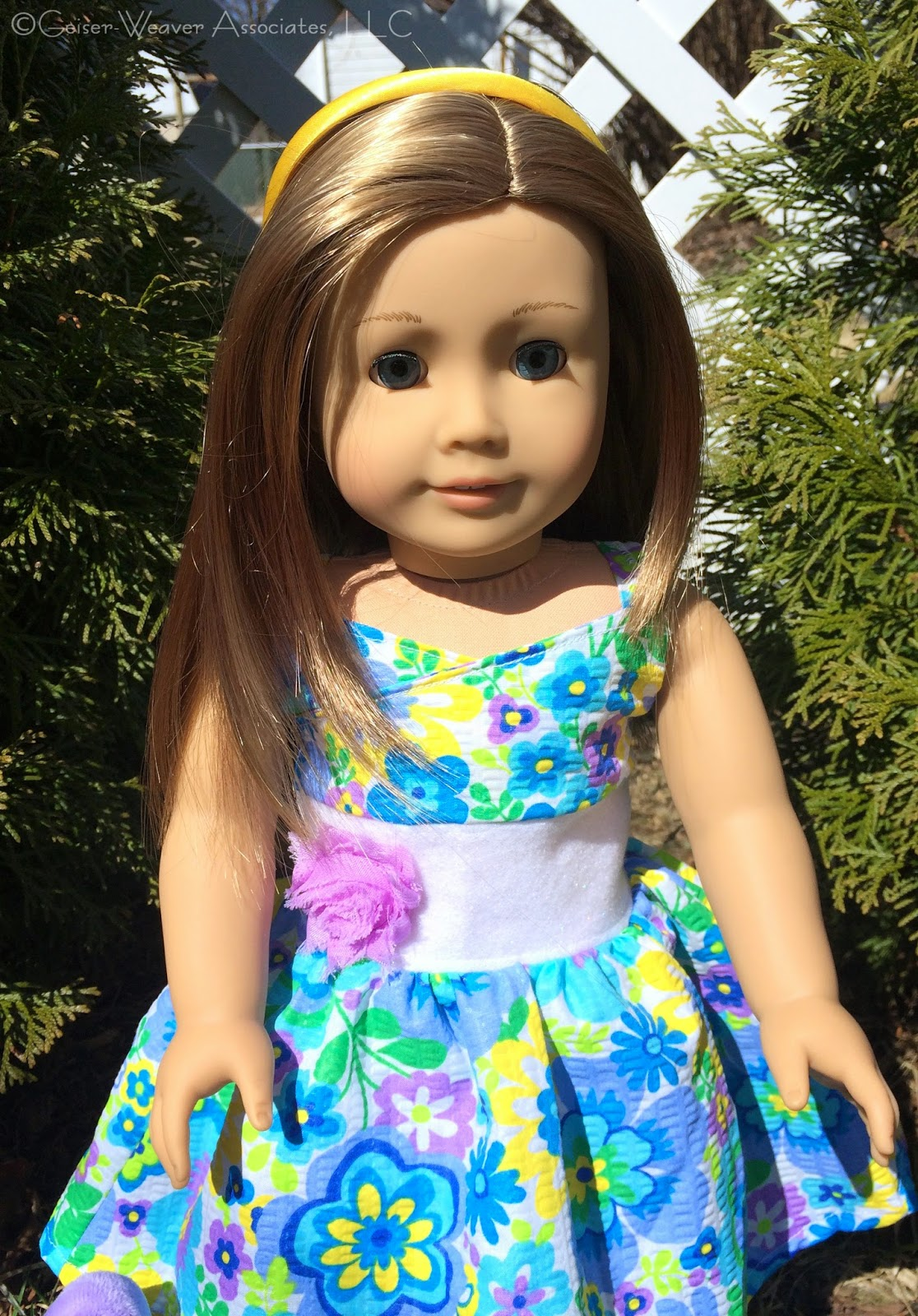 Geiser-Weaver Associates LLC doll clothes: Bree's Easter Dress