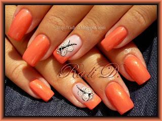 Dragonflies nail art