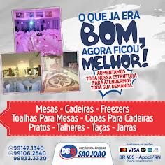 Depósito de Bebidas São João - Locação de materiais. (84) 99147-1340 Whats