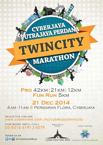 cyberjaya twincity marathon 2014