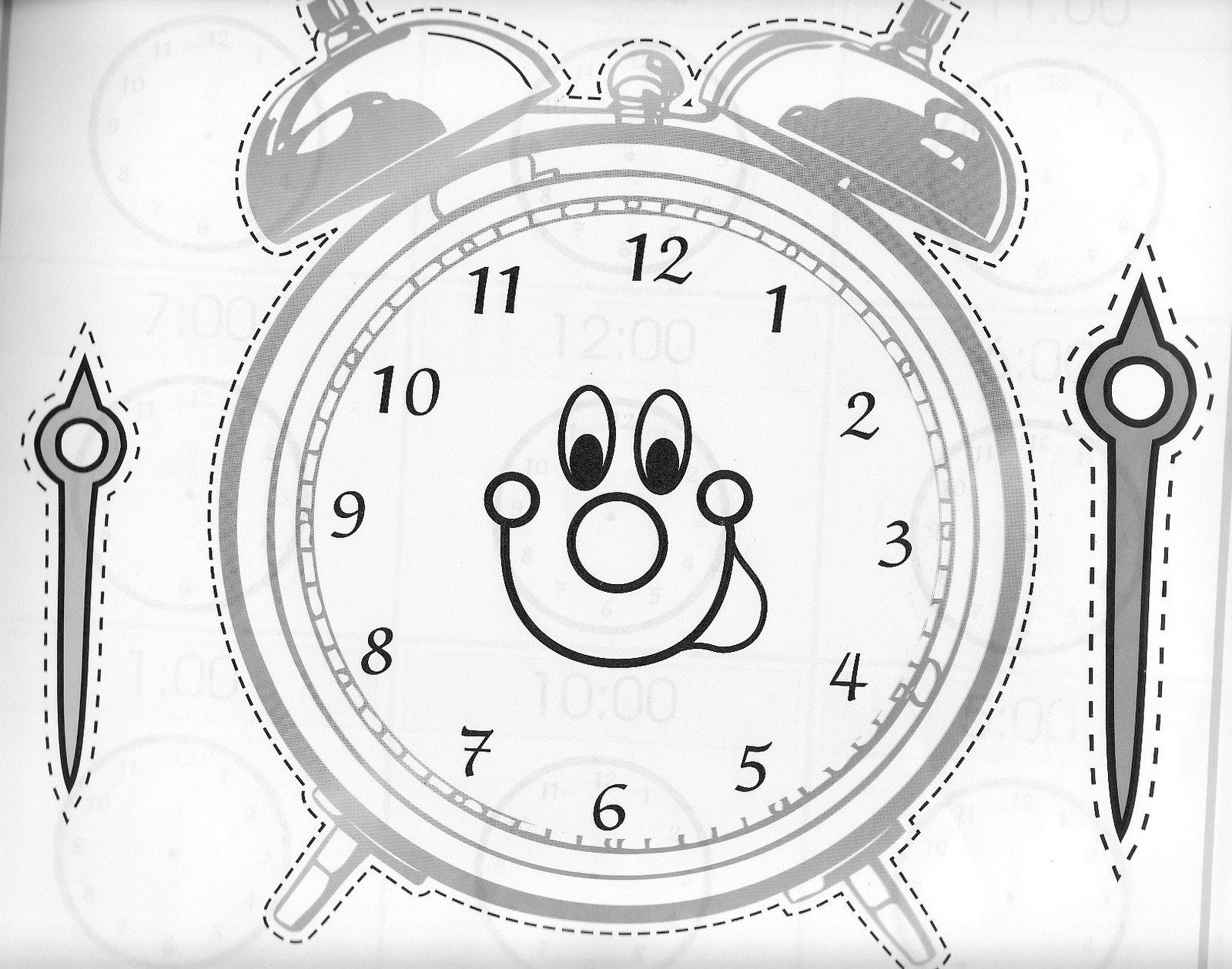 Perfecto Reloj Para Colorear Para Imprimir Imagen - Enmarcado Para ...