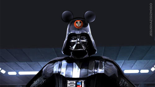 disney bought over lucasfilm, meme micky and darth