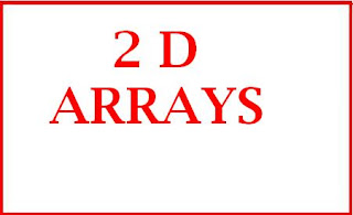 Examples of Two Dimensional Array in Data Structure Lab 3