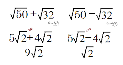 how to add radicals with fractions
