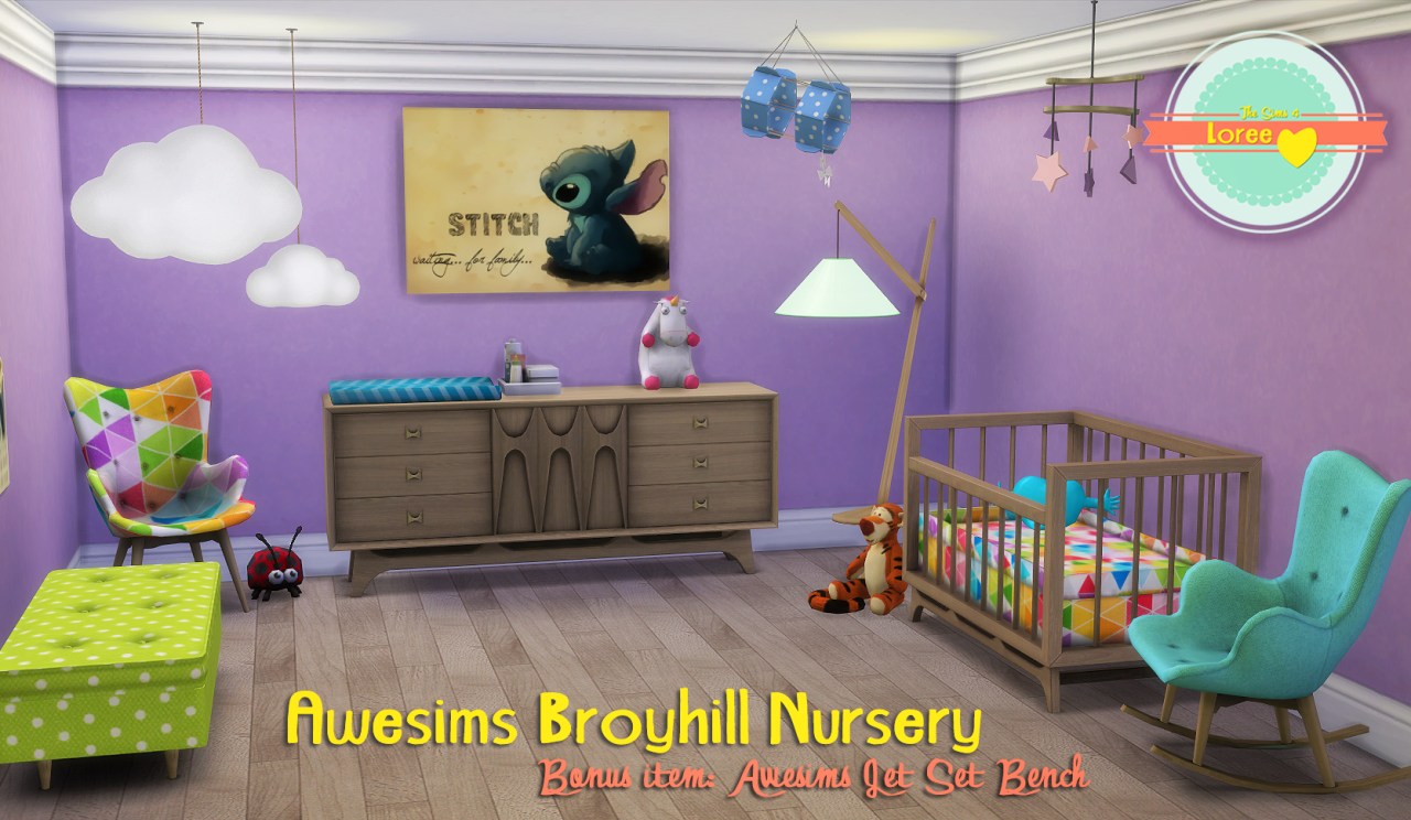 My Sims 4 Blog Awesims Broyhill Nursery Set Conversion By