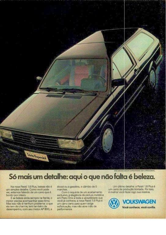 Propaganda da Parati (Volkswagen) em 1990