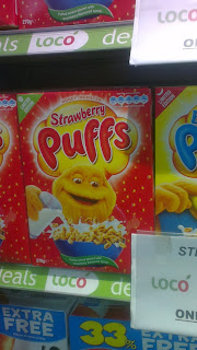 honey monster strawberry puffs