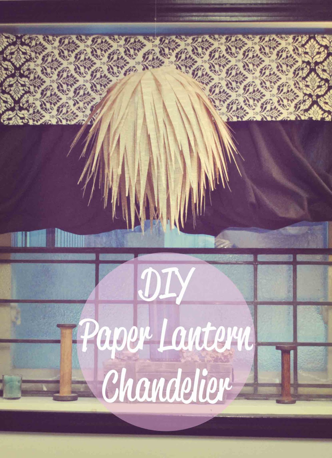 With a c diy paper lantern chandelier - Paper lantern chandelier ...