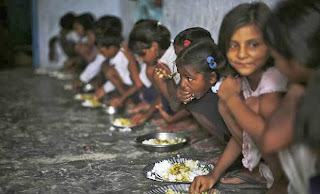Midday meals are one of govt's important schemes to draw children, especially the poor, to school