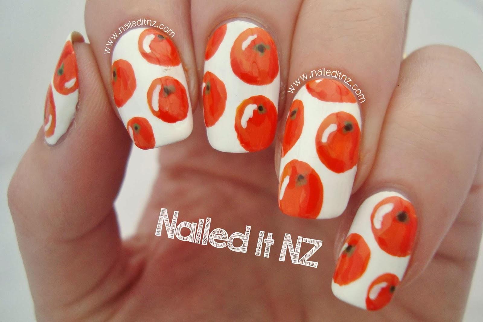 Orange Nail Art Trip Down Nail Art Lane Day 3