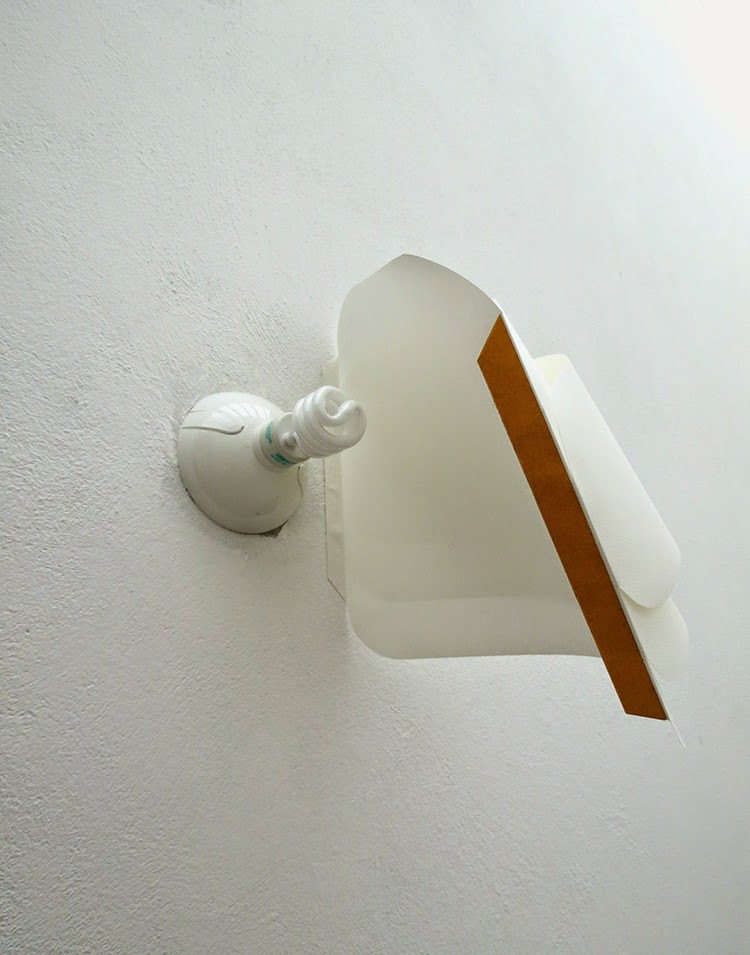 Homemade Wall Lamp : Ohoh Blog - DIY and crafts