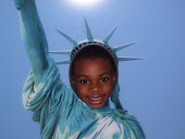 Nephew as Lady Liberty:)