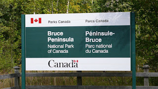 Sign of Bruce Peninsula National Park
