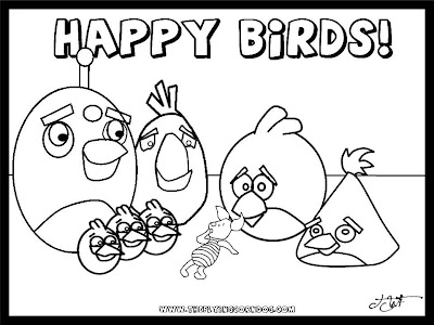 angry bird colouring templates
