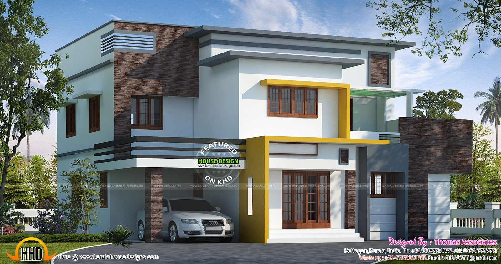 September 2015 kerala home design and floor plans for Kerala contemporary home designs
