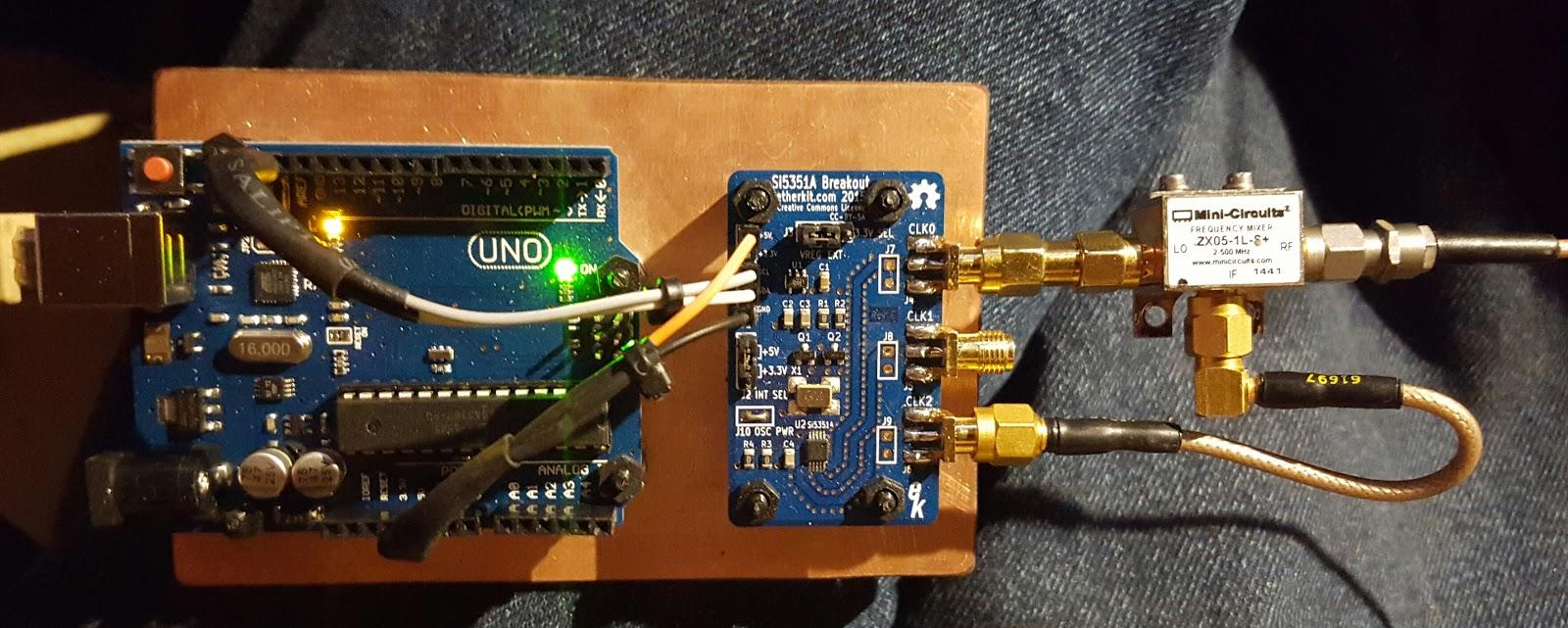 Ko dx arduino uno si a breakout as mhz cw beacon