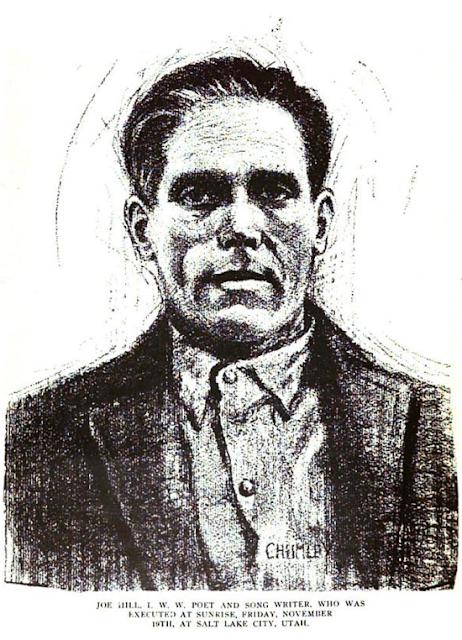 Joe Hill por L. Stanford Chumley, diciembre de 1915
