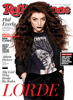 Magazine Cover : Lorde Magazine Photoshoot Pics on Matthias Vriens-McGrath Rolling Stone Magazine January 2014 I