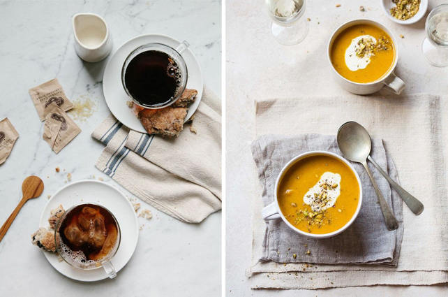6 Food Styling Tips for Photography from Lesley Myrick, Interior Designer and Stylist. Great ideas for Instagram photos! Photo credits: Ginny Branch and Domaine Home #photography #tips #Instagram