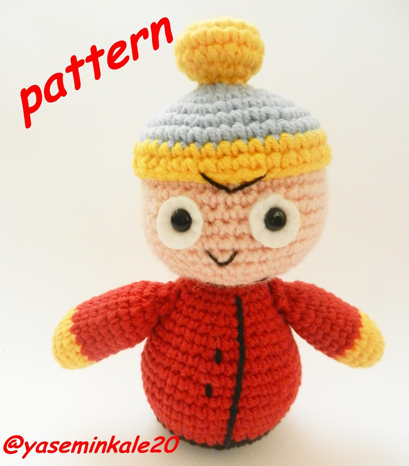Amigurumi Cartman : Yaseminkale: Amigurumi South Park Eric pattern