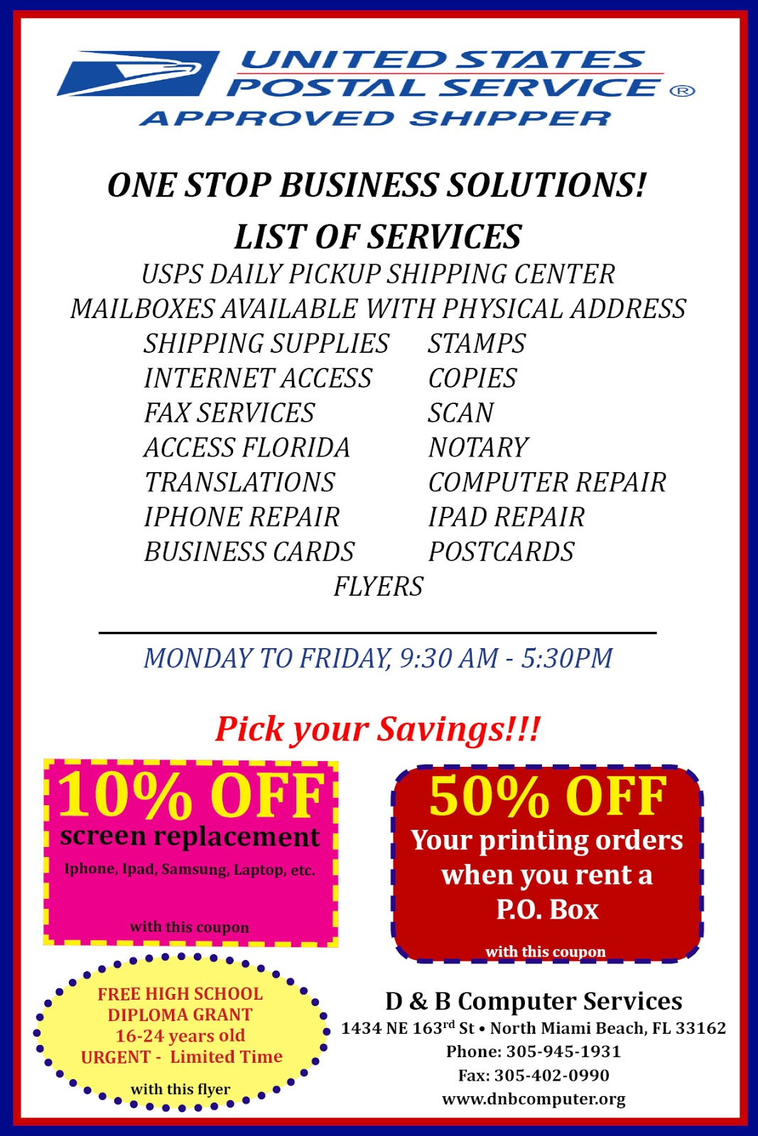 D & B Computer Services is onet stop-shop in North Miami Beach