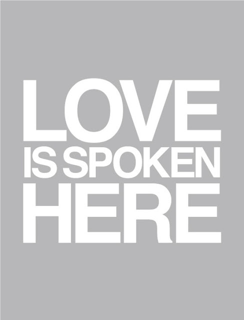 Love is spoke here