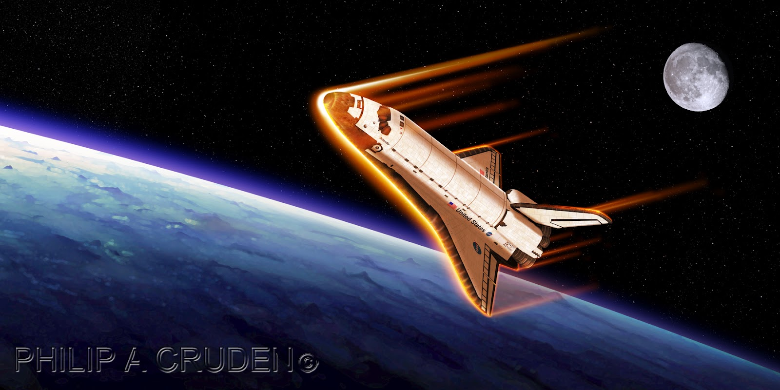 space shuttle re entry heat - photo #15