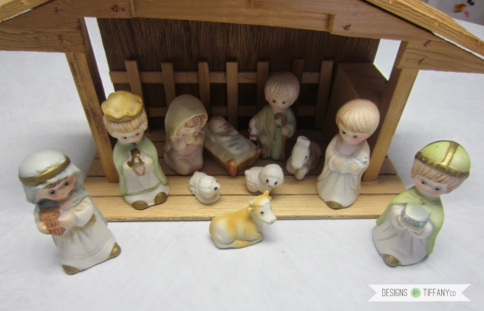 Classy Christmas Precious Moments Nativity MakeOver  Designs by