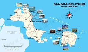 Peta Daerah Wisata Provinsi Bangka Belitung