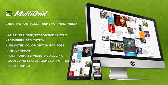 MultiGrid Creative Portfolio, Multimedia Theme free
