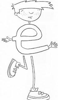 Riscos para pintura - Alfabeto com bonequinhos