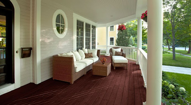 Postcards from the ridge favorite paint color benjamin Front porch flooring ideas